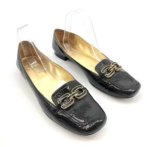 Coach Black Patent Leather Loafers Lynnda